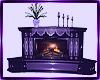 purple elegant fireplace