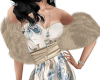Beige Fur Back Shrug