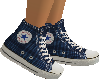 Blue Plaid Converse FEM