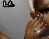 ring onyx R Dainty Hand