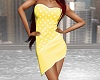 Spotted Dress - Yellow