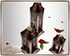 lantern set red roses