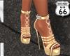 SD Gold Black Heels