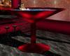 red black martini tub