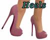 mauve suede heels