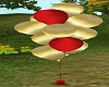 ~HD~red and gold balloon