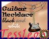 guitar necklace black an