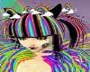 rainbow raver hair