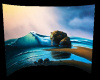 Ocean wave backdrop Room