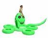 flotador pulpo verde