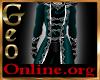 Geo Dress Uniform Teal