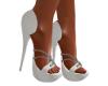 Bling  White Heels
