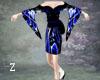 Kimono Blk Blue Wht