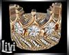 Queen Gold Wedd Ring