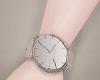 Watch, silver.