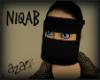 aza~ Niqab - black veil