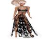 goth goddess gown black