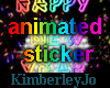 HAPPY NEW YEAR STICKER 2