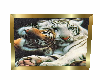 tiger picture gold frame