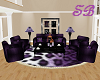 SB* Purple Sofa Set