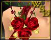 3 Red Roses Brooch
