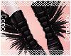 Leg Feathers |Black