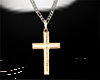 [NR]Cross Necklace Gold