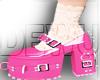 kawaii pink shoes e