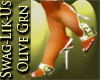 SwagLikUs-OliveGrn Heels