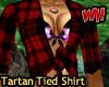 Red Tartan Tied Shirt