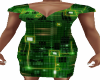Green Circuit Dress