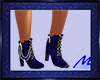 Blue Ankle Chained Boot