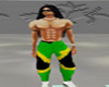 jamaica flag baggy pants