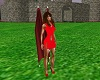 Red vampire wings