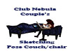 Couple Sketching couch