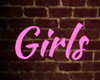girls pink neon sign