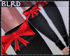 b| Red Bow Leg Warmers