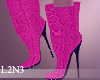 L2N3 Pink Snake Boots