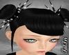 Shiney Black Spike Buns