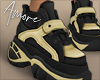 $ Gold Sneakers