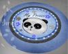 Panda Round Rug Blue
