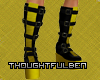 Yellow and Black Boots