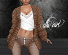 Brown Wool Jacket w/Top
