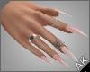 ~AK~ Nails: Silver/Pink