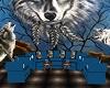 11P Blue Wolf Sofa Set
