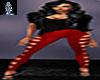 Red Velvet Leggings