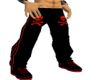 Red skull sweat pants
