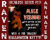 M HALLOWEEN SHOULDER CAT