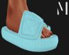 T+M | Blue Nylon Slides