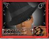 [E] PINSTRIPE BLACK HAT